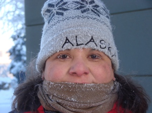 We were at the Yukon Quest in Fairbanks Alaska and the temperature was -37 ...  We didn't stay outside very long ..